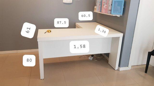 Mesa de escritório em L  - Foto 6