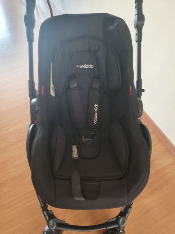 Carrinho Kiddo Galaxy + bebê conforto + base - Foto 4