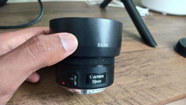 Lente Canon 50mm 1.8 STM + Para sol