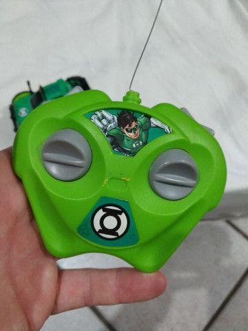 Carro Controle Remoto Liga Da Justiça Lanterna Verde Candide - Foto 3