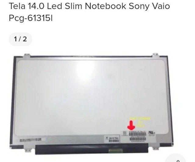 TELA 14.0 led slim sony vayo pcg -61315l - Foto 2