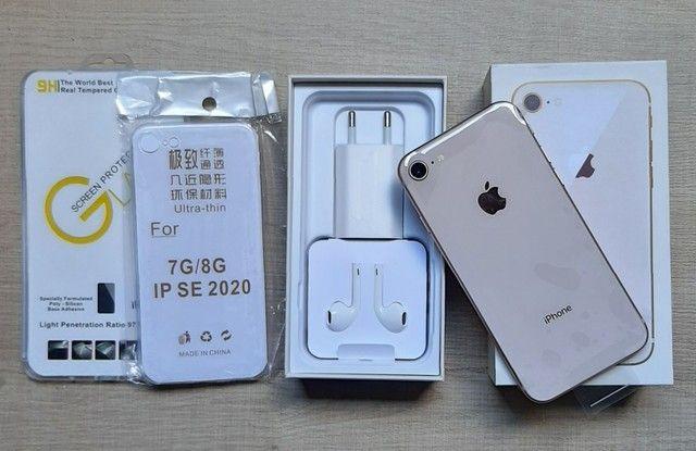 IMPERDÍVEL! iPhone 8 GOLD 64GB Com todos os acessórios + Brindes!
