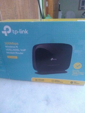 Vendo urgente modem roteador TP-Link TD VG5611 300MPS  - Foto 3