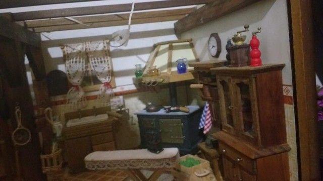 Casa miniatura madeira - Foto 4