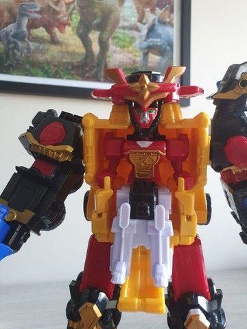 Mega Zord Power Rangers Aço Ninjo - Foto 2