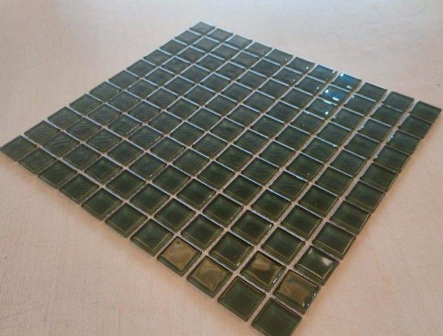 Pastilha de vidro 30x30 A089 Algas 2,5x2,5-Primeira Linha - Foto 2