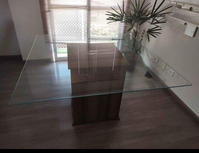 Mesa tampo de vidro 8mm  - Foto 2