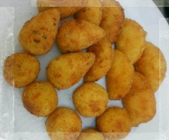 Salgados fritos - 100unid. tamanho festa