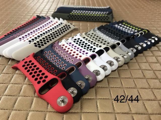 Pulseiras Nylon, Silicone e Aço para Apple Watch 38/40/42/44mm séries 1/2/3/4