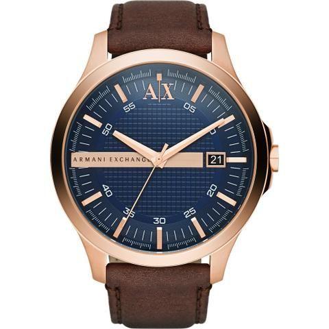 ecad2d870c7 Relógio Armani Exchange Masculino 100% Original c  certificado - couro  genuíno