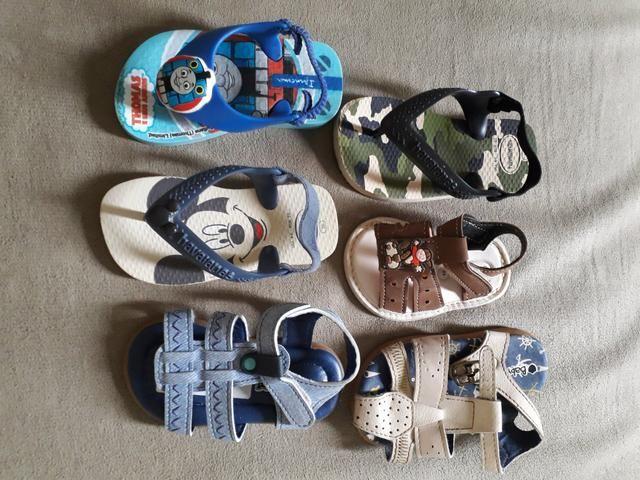Combo sandálias masculina infantil