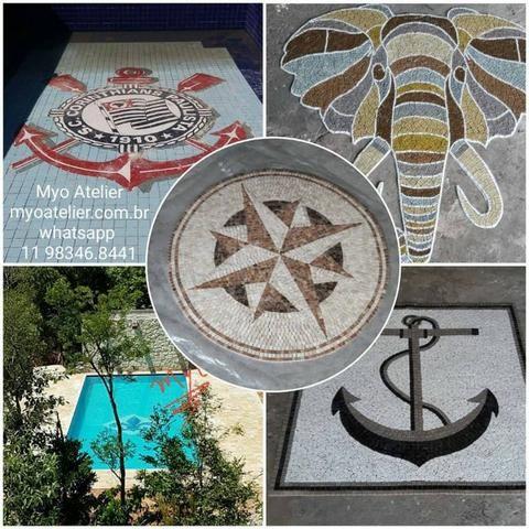 Mosaico Time São Paulo, mosaico piso, mosaico piscina, desenho pescina - Foto 3