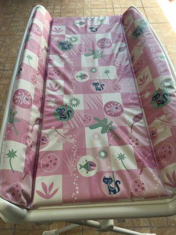 Banheira Splash Peixinhos Rosa - Burigotto com assento - Foto 4