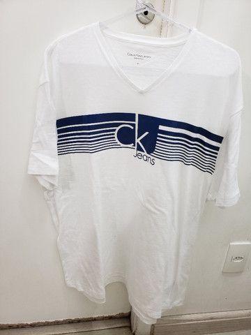 Camiseta Original Calvin Klein. Masculina. Tamanho Gg. Nova!