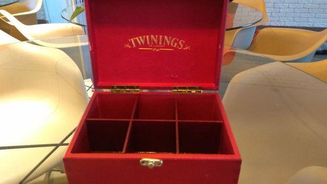 Caixa de Chá inglesa TWININGS LONDON Vintage