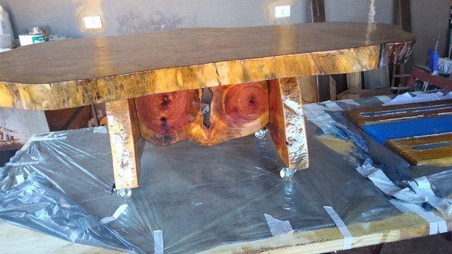 Mesa de centro de madeira resinada - Foto 5