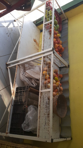 Bancada para frutas e verduras