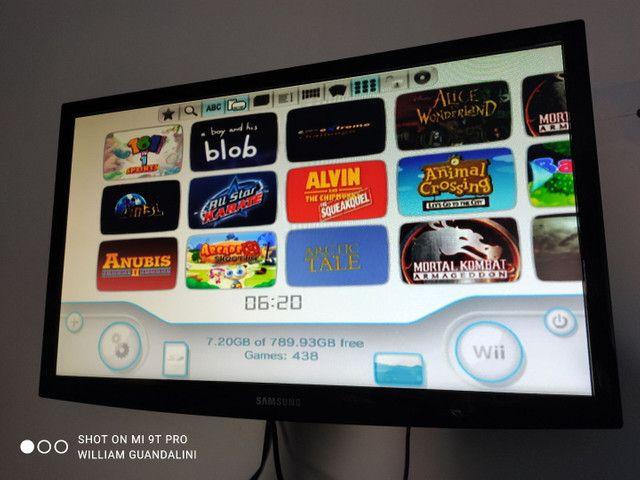 Nintendo Wii 1tb hdd externo HDMI SD completo 438 jogos wii - Foto 5