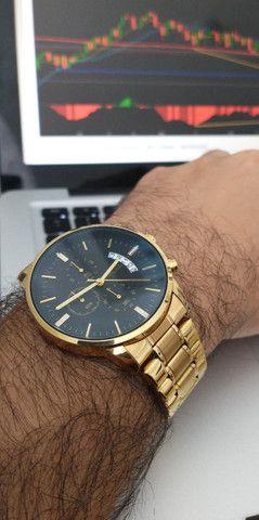 Relógio Original Masculino Dourado Novo na Caixa Armiclock