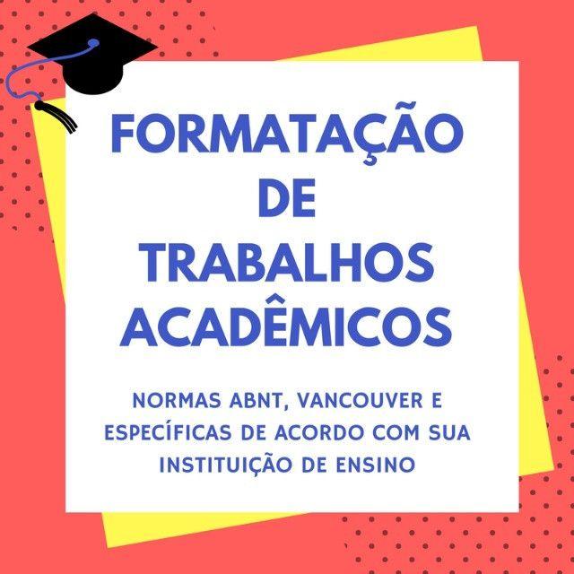 Formatação de trabalho acadêmico, TCC, resumo, artigo científico, seminário, apresentação