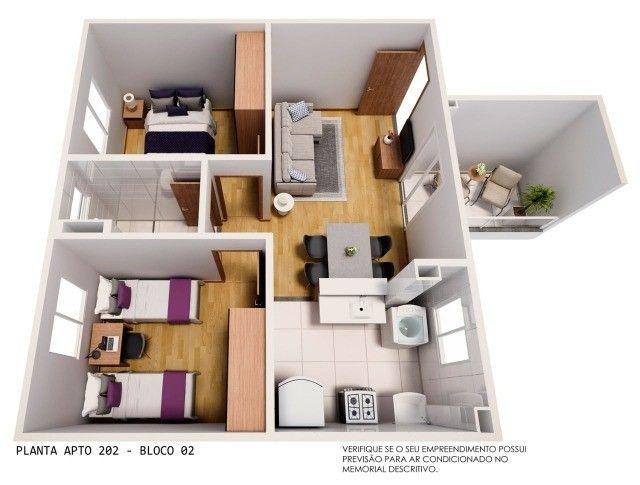 Apartamento em Cidade Satélite - 2/4 - 48m² - Nova Amsterdã - Documentação Grátis - Foto 17