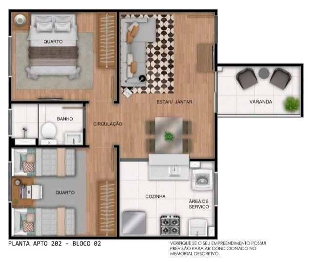 Apartamento em Cidade Satélite - 2/4 - 48m² - Nova Amsterdã - Documentação Grátis - Foto 13