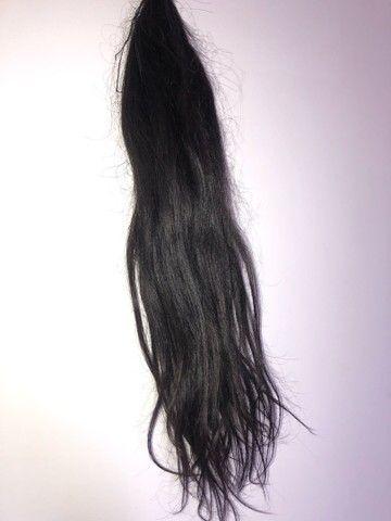 130 gramas de cabelo Virgem castanho escuro  - Foto 2
