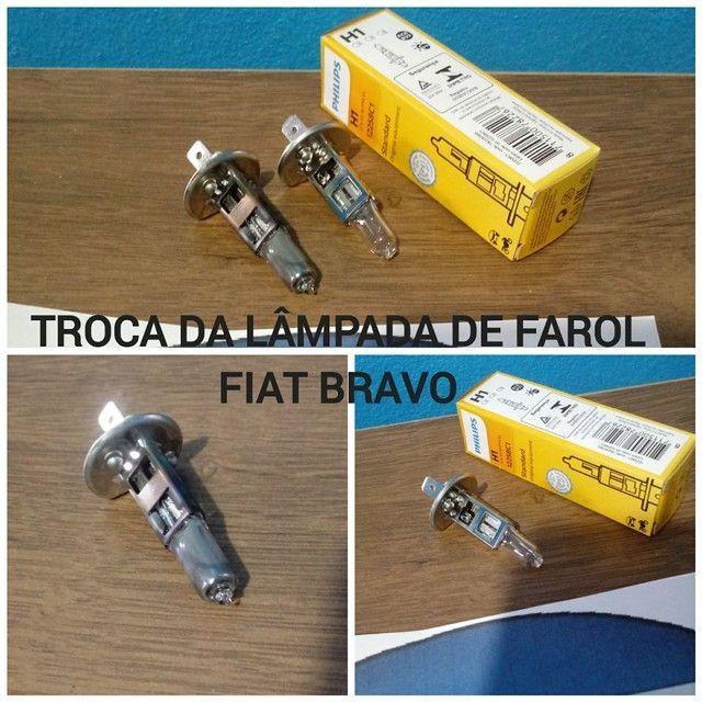 TROCA DE LÂMPADAS AUTOMOTIVAS DE FAROL/SINALEIRA/FREIO/PLACA  - Foto 6