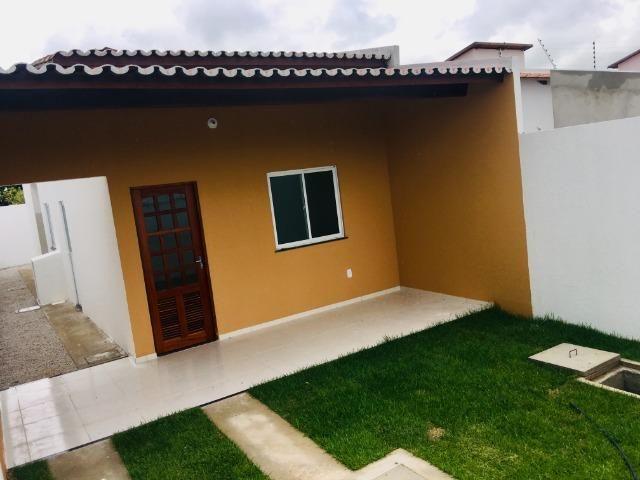 Ent. facilitada linda casa com doc. grátis 2 quartos e 2 suites so casas novas - Foto 14