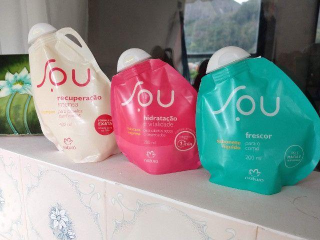 Kit Natura SOU: Shampoo 400ml + Máscara + Sabonete Líquido