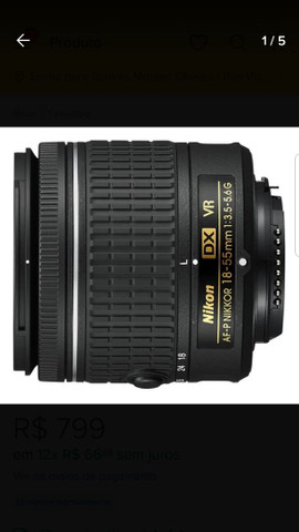 Lente 18 -55 Nikon - Foto 2