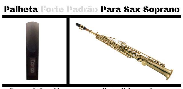 Palheta forte dura 2 anos para sax alto tenor e soprano frete grátis - Foto 5