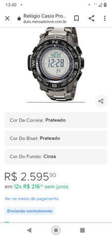 Casio Sport Pro Trek PRG80T vendo ou troco por Smartwatch de meu interesse - Foto 2