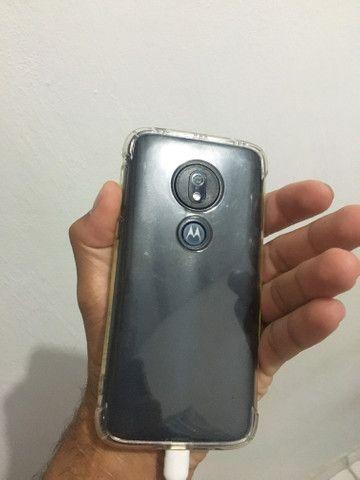 Moto G7 Play de 32gb ,Cor preto , Algumas marcas de uso , Funcionando perfeitamente Tudo - Foto 4