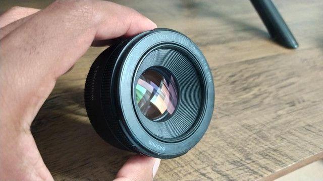 Lente Canon 50mm 1.8 STM + Para sol - Foto 5