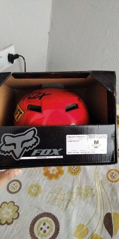 Capacete Fox tamanho M - Foto 4
