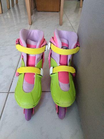 Patins Roller In-Line feminino - Foto 3
