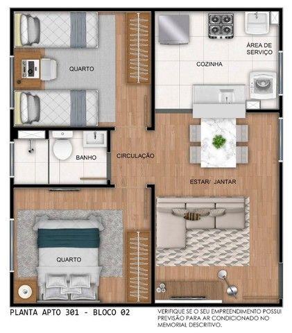 Apartamento em Cidade Satélite - 2/4 - 48m² - Nova Amsterdã - Documentação Grátis - Foto 16