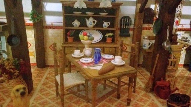 Casa miniatura madeira - Foto 2