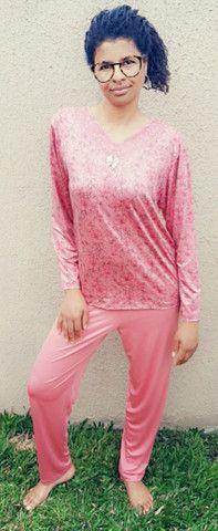 Pijama em Microfibra deixa corpo respirar. Somente Tamanho M. R$ 79,00 - Foto 2