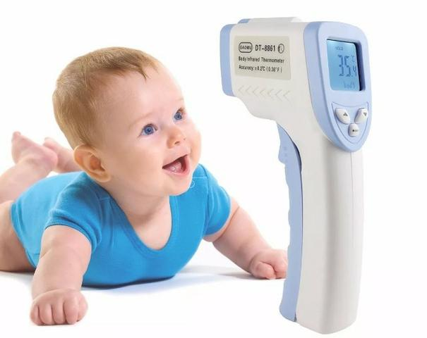 Termometro Laser Digital Infravermelho Febre De Testa Bebe