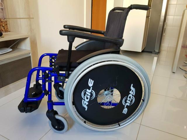 Cadeira de rodas Agile 40x40x40 - Foto 4