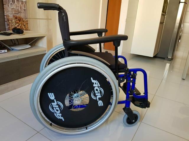 Cadeira de rodas Agile 40x40x40 - Foto 2