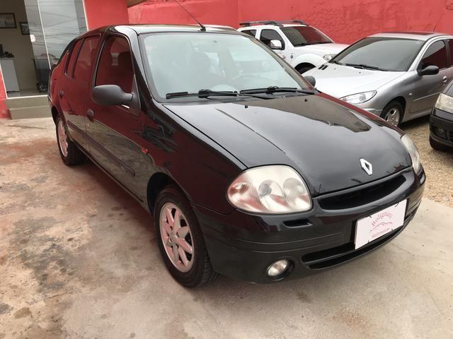 Clio sedan 2003 1.6 RT completo - Foto 9