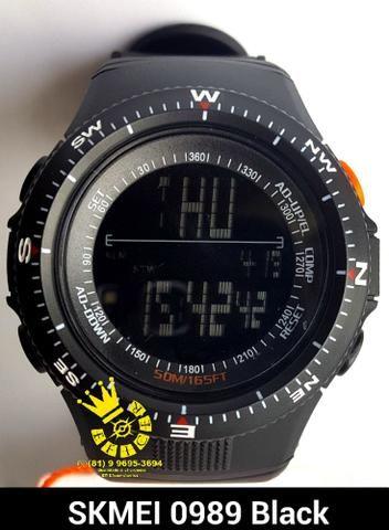 48e072fe4d6 Relógio Militar Unissex Cronô Hora Duplo Prova D água Entrega Grátis 4x s