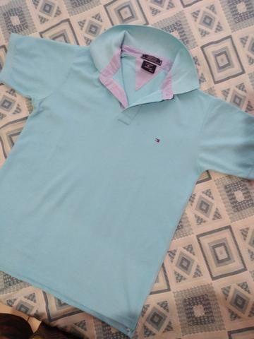 675badf0ed 2 Camisas Polo Tamanho M Hollister e Tommy - Original - Roupas e ...