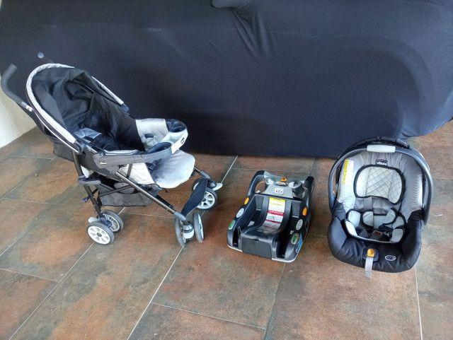 Carrinho + bebê conforto Chicco com isofix - Foto 5