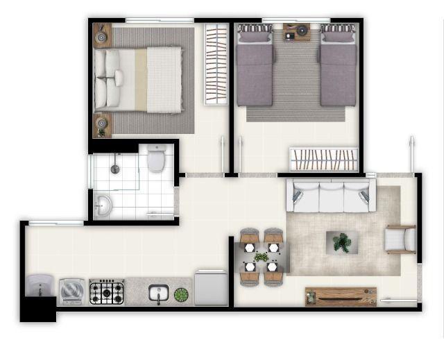 Apartamento de 02 quartos no Jardim Novo Mundo - Foto 3