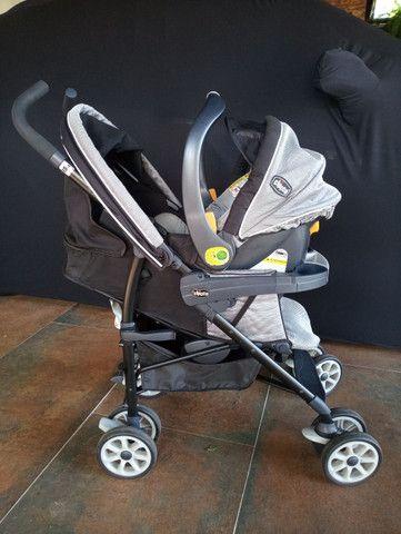 Carrinho + bebê conforto Chicco com isofix - Foto 3