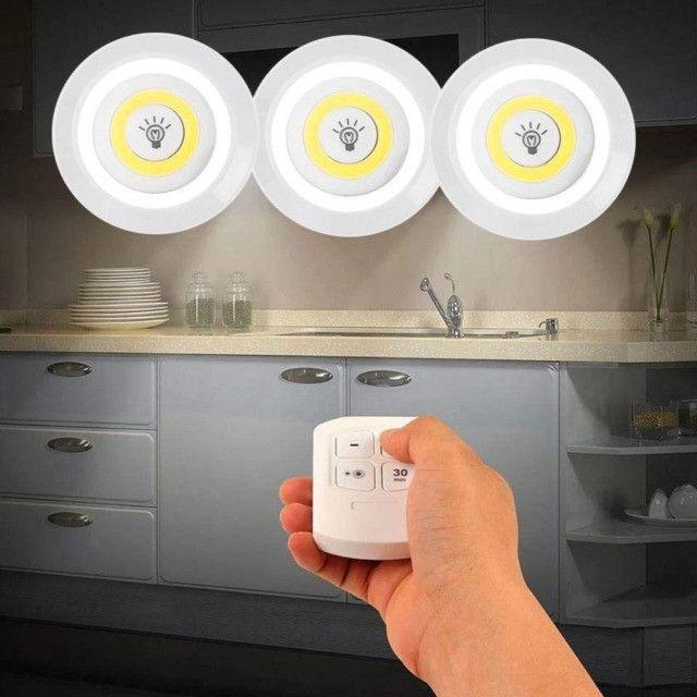 (NOVO) Lampada Led Luminária Sem Fio Com Controle Remoto com 1 Sptos - Foto 6